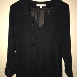 Woman's black dress shirt